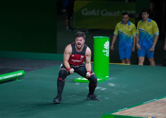Jordan Sakkas celebrates lift
