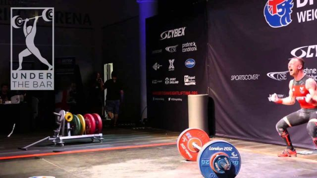 Gareth Evans celebrates double bodyweight and British record snatch