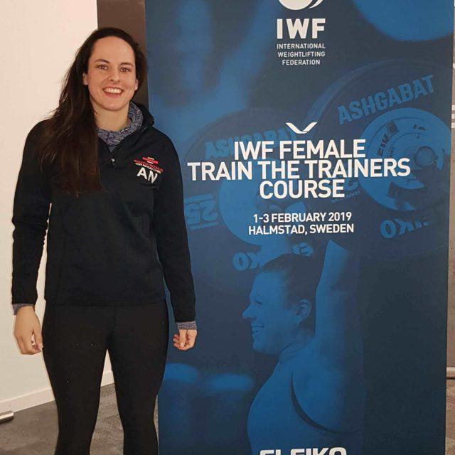 Ania Negele attending the IWF Women's Coaching Conference