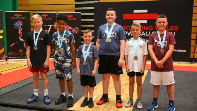 Boys with medals at Gemau Cymru 2019